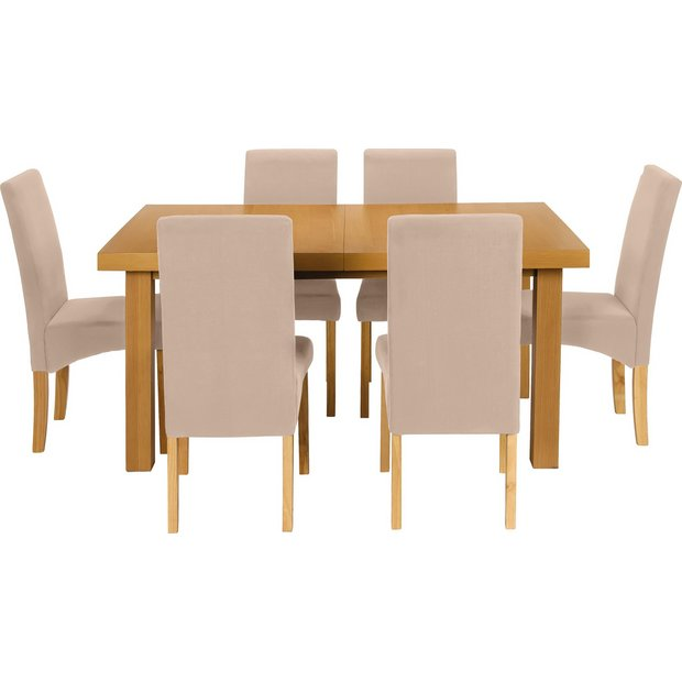 Buy Collection Cosgrove Ext Dining Table 6 Chairs Oak