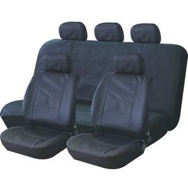 Streetwize Leather Look Car Seat Covers - Black