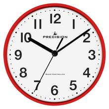 Precision Radio Controlled Wall Clock - Red