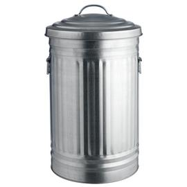 Habitat Alto 52 Litre Kitchen Bin - Galvanised Steel
