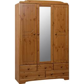Argos Home Nordic 3 Door 5 Drawer Mirrored Wardrobe
