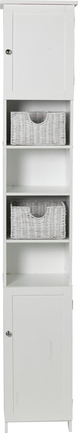 home manhattan tall cabinet white