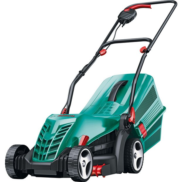 Top Buy Bosch Rotak 34-13 34cm Corded Rotary Lawnmower - 1300W BR39