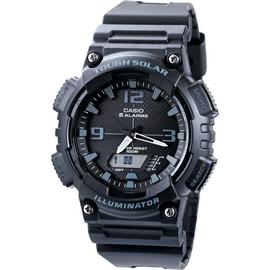 Casio Men's Black Resin Strap Solar Powered Digital Watch