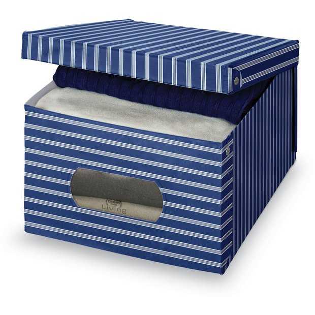 Empty Baby Gift Boxes Uk : Buy blue matching pvc box with window extra large at
