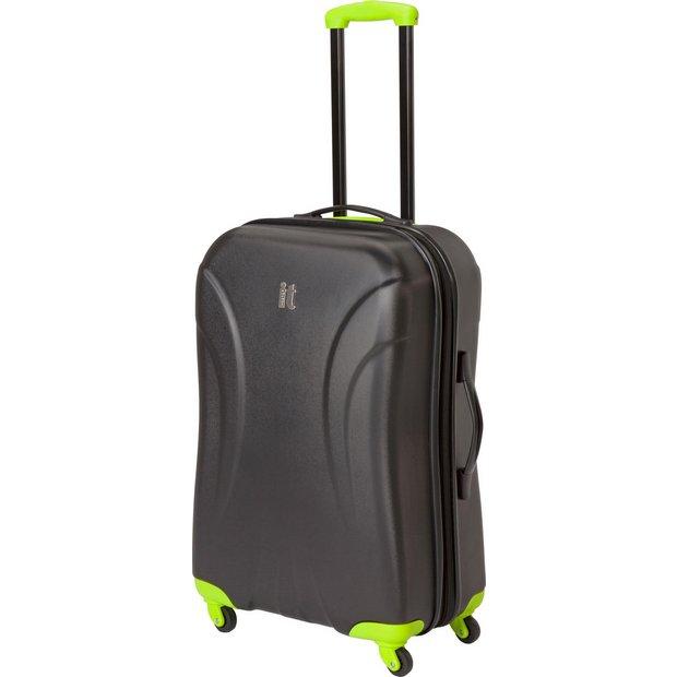 Buy IT Luggage Large Expandable 4 Wheel Hard Suitcase - Black at ...