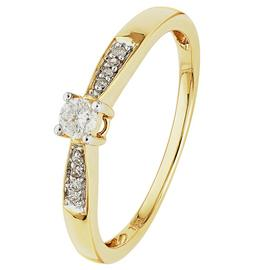 Revere 18ct Yellow Gold 0.10ct tw Diamond Solitaire Ring