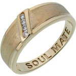 more details on 9ct Gold Plated Silver Cubic Zirconia 'Soul Mate' Ring.