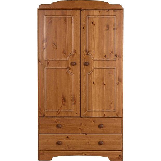Buy HOME Nordic 2 Door 2 Drawer Compact Wardrobe - Pine at ...