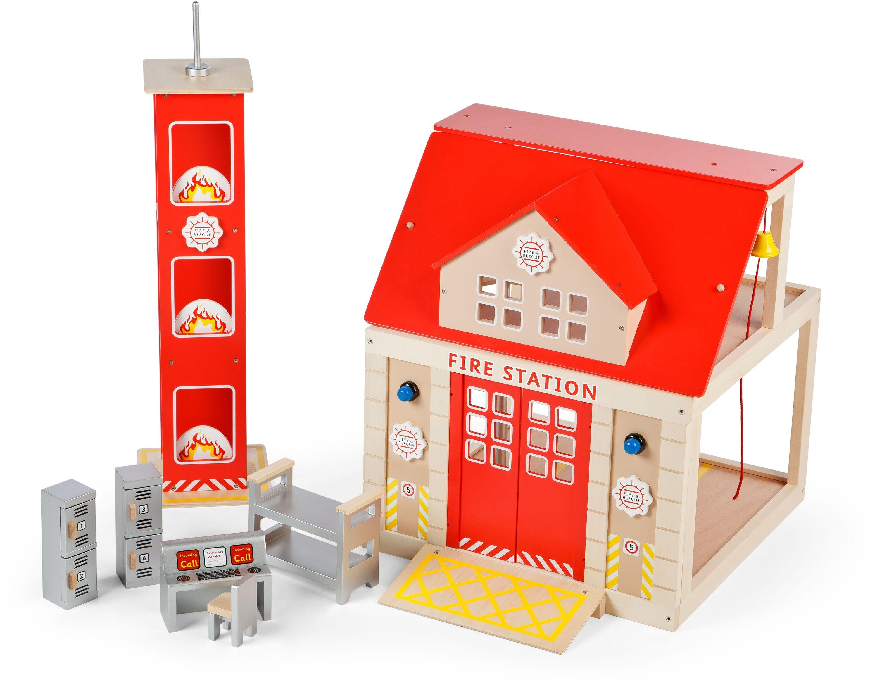 buy tidlo fire station set | toy cars, vehicles and sets | argos