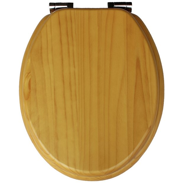 Buy Collection Solid Wood Slow Close Toilet Seat Light