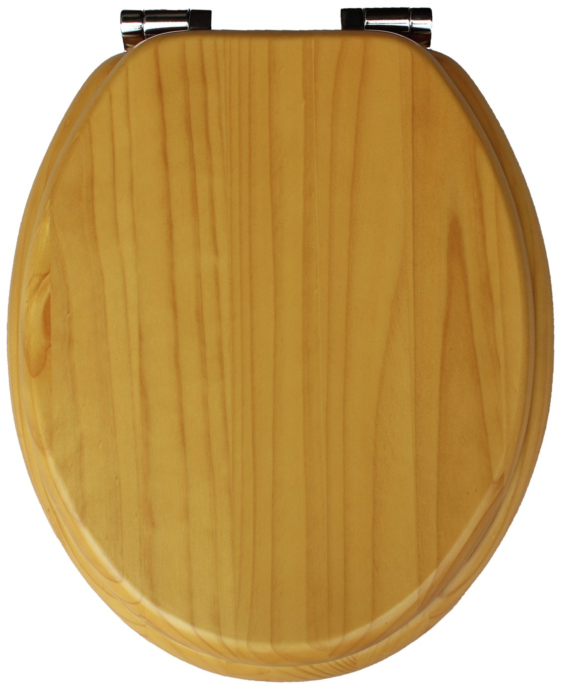 Collection Solid Wood Slow Close Toilet Seat   Light Oak