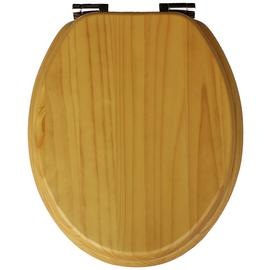 Argos Home Solid Wood Slow Close Toilet Seat