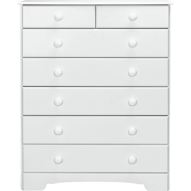 buy home nordic 5 2 drawer chest white at. Black Bedroom Furniture Sets. Home Design Ideas