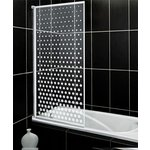 more details on HOME Fully Framed White Spotted Patterned Shower Screen.