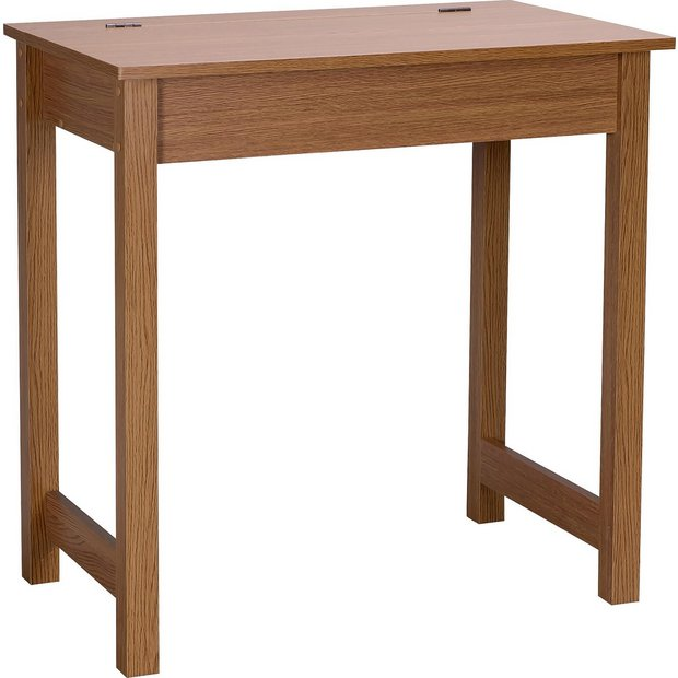 Buy Home Denbigh Office Desk Oak Effect At Your Online Shop For Desks And