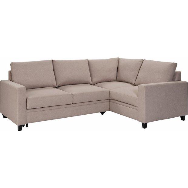 Buy Argos Home Seattle Right Corner Fabric Sofa Bed Natural Sofa