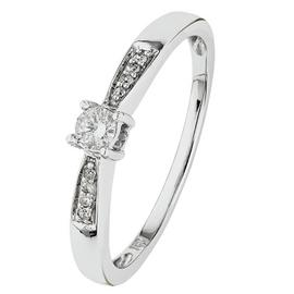 Revere 18ct White Gold 0.10ct Diamond Solitaire Ring.