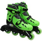 more details on Elektra In Line Boot Skates - Green.