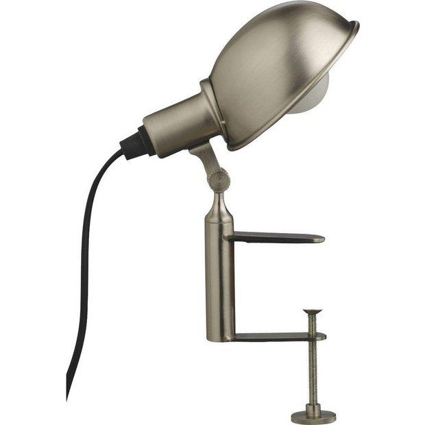 Habitat Bedside Lamps : Buy habitat tommy clamp lamp silver at argos