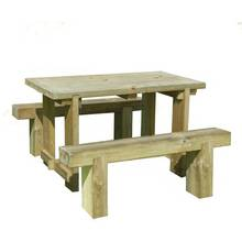 Forest Sleeper Benches and Table Set 1.2m