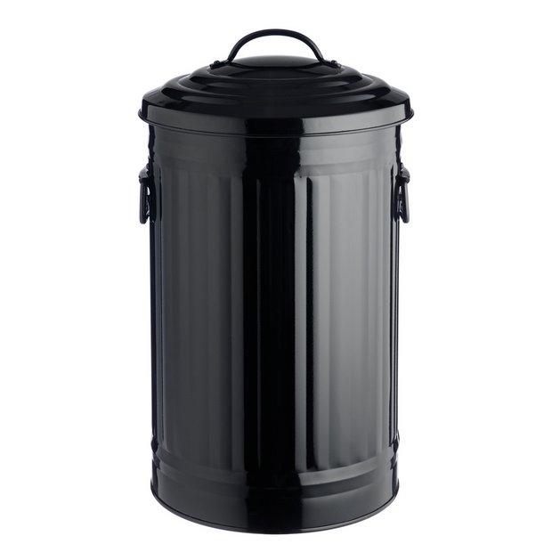 Buy habitat alto 32l black kitchen bin at for Kitchen set argos