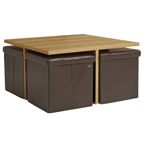 Buy Home Ohio Ottoman Coffee Table Chocolate And Oak