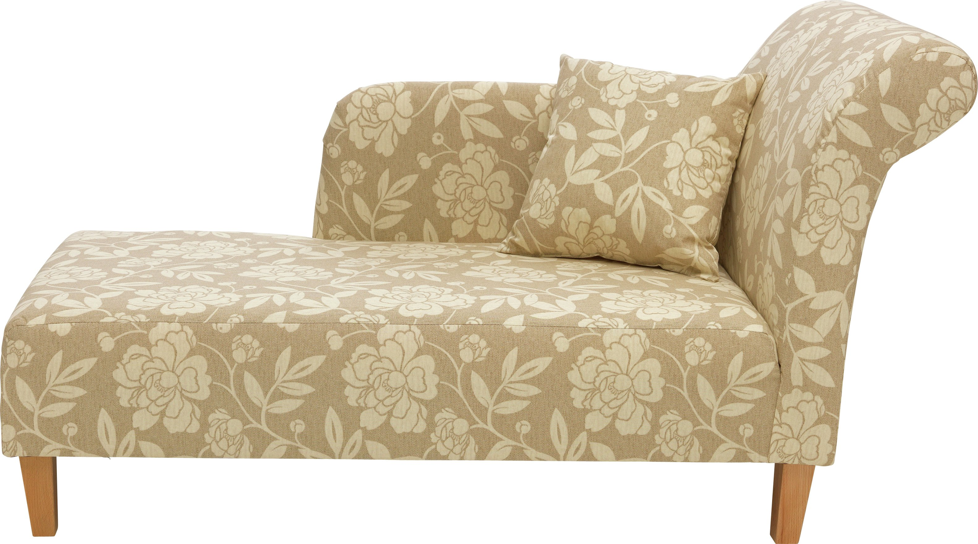 Buy HOME Floral Fabric Chaise Longue - Natural at Argos.co.uk - Your Online Shop for Sofas Living room furniture Home and garden.  sc 1 st  Argos : argos chaise lounge - Sectionals, Sofas & Couches