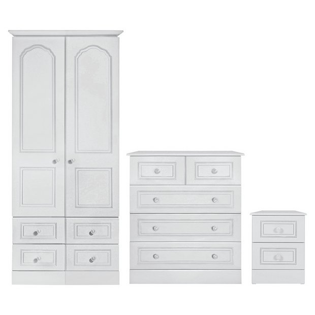 Buy Collection Stratford 3 Piece 2 Door Wardrobe Package White At Your Online