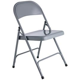 Habitat Macadam Metal Folding Chair - Grey
