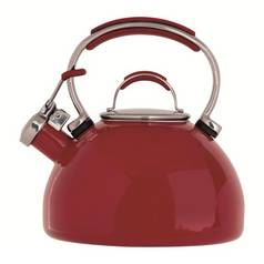 Prestige Enamel Stove Top Kettle - Red