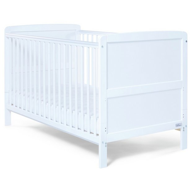 Buy Baby Elegance Travis Cot Bed With Mattress White At