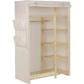 Argos Home Polycotton and Pine Double Wardrobe - Cream