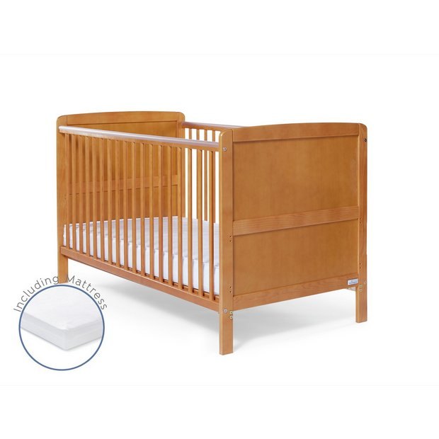Buy Baby Elegance Travis Cot Bed With Mattress Antique