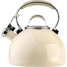 Prestige Enamel Stove Top Kettle - Almond