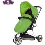 more details on Obaby Chase 3 Wheeler Pramette - Black and Lime.