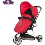 more details on Obaby Chase 3 Wheeler Pramette - Black and Red.