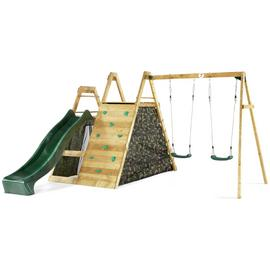 Plum Climbing Pyramid Wooden Play Centre with Double Swings.