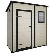 Keter Manor Plastic Beige & Brown Garden Shed - 6 x 4ft