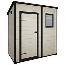 keter manor plastic beige brown garden shed 6 x 4ft