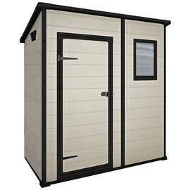 Keter Manor Pent Garden Storage Shed 6 x 4ft – Beige/Brown