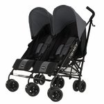 more details on Obaby Apollo Black and Grey Twin Stroller - Grey.