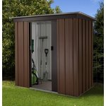 more details on Tall Woodgrain Pent Metal Shed - 6ft x 4ft.