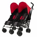 more details on Obaby Apollo Black and Grey Twin Stroller - Red.