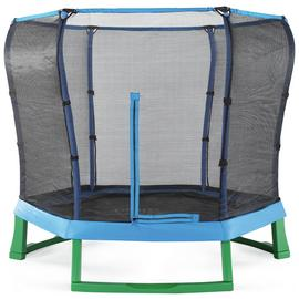Plum Products 7ft Trampoline with Enclosure - Blue/Green