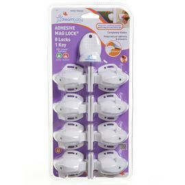 Dreambaby Adhesive Mag Lock Set - 8 Locks + 1 Magnetic Key