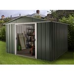 more details on Deluxe Apex Metal Shed with Support Frame - 10 x 10ft.