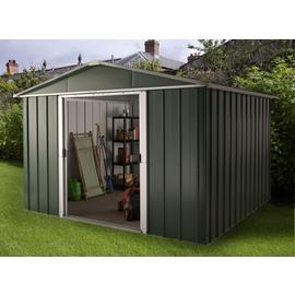 Yardmaster Deluxe Metal Shed with Support Frame - 10 x 10ft