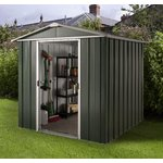 more details on Deluxe Apex Metal Shed with Support Frame - 6 x 4ft.