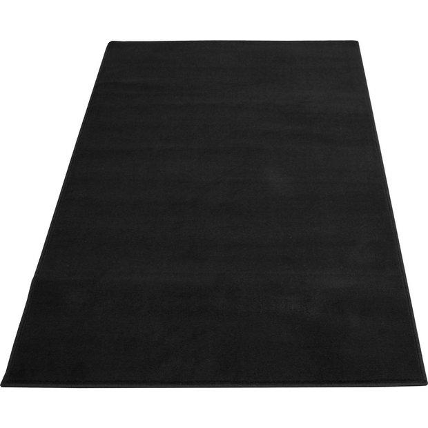 Buy Maestro Plain Black Rug